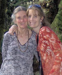 Liesel and Rosemarie Briggs in Kathmandu