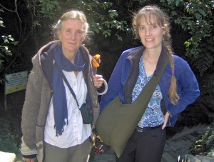 Liesel and Rosemarie in a Tibetan village in India.